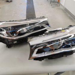 3. Car lights restoration - after